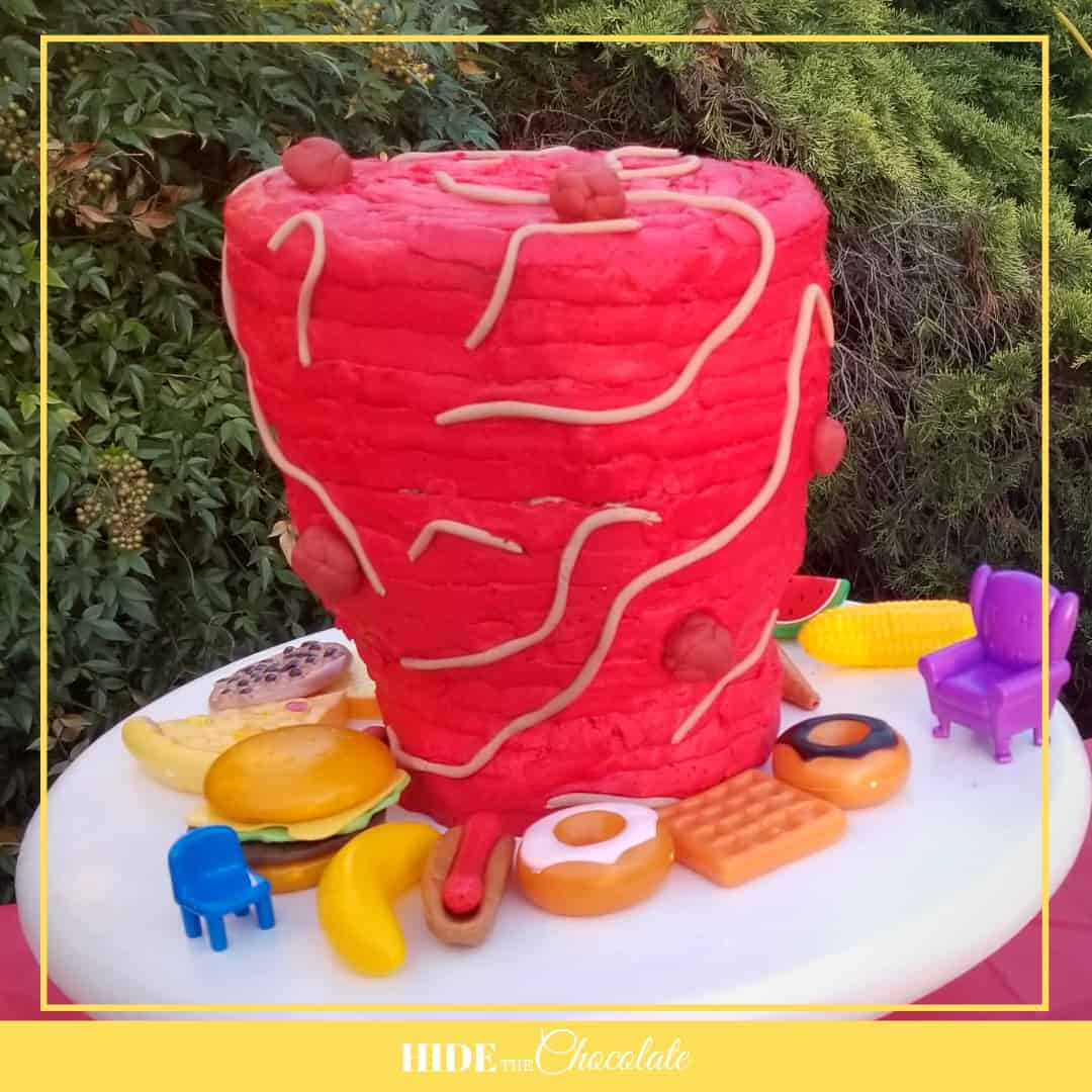 Cloudy with a Chance of Meatballs Nature Book Club-Tomato Tornado Cake