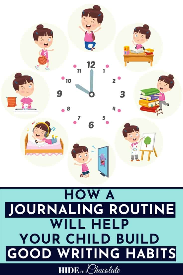 How A Journaling Routine Will Help Your Child Build Good Writing Habits:  Most of us have morning routines. Whether we have read-aloud time, morning work, or family work, we have a routine. Routines help our children to feel comfortable and relaxed. A journaling routine is no exception. Sure, your child can write in his or her journal whenever they want, but there are definitely some benefits to developing a journaling routine.