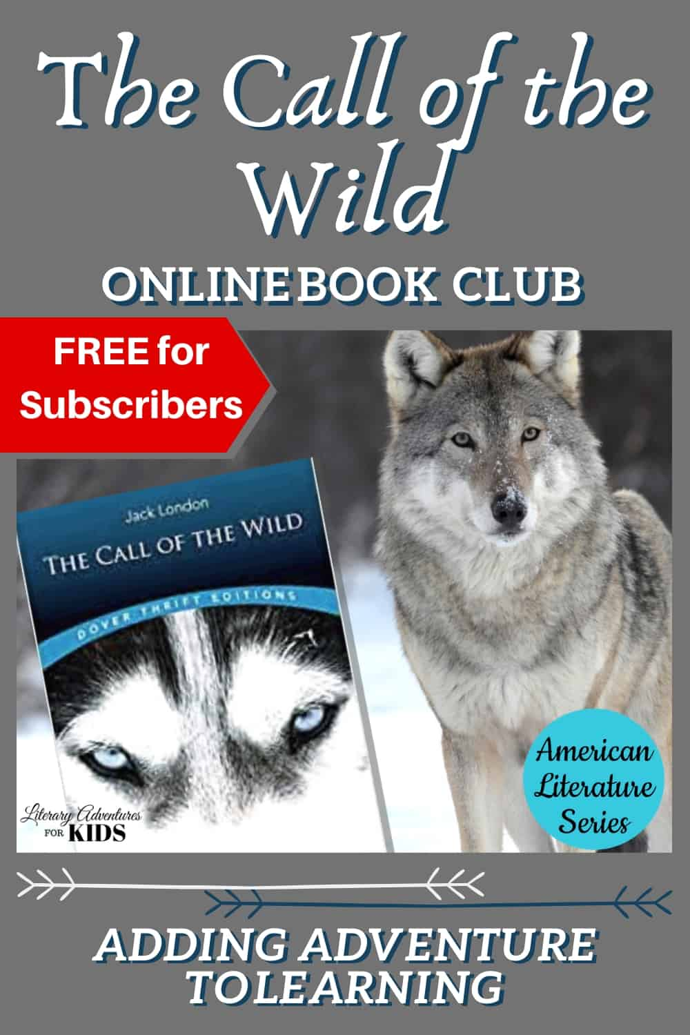 In this course, The Call of the Wild Online Book Club, we will read through the book The Call of the Wild by Jack London. As we are reading, we will go on rabbit trails of discovery into history, science, geography, and more. We will find ways to learn by experiencing parts of the book through hands-on activities. At the conclusion of the story, we will have a party school to celebrate this classic story. #onlinebookclub #la4k #homeschooling