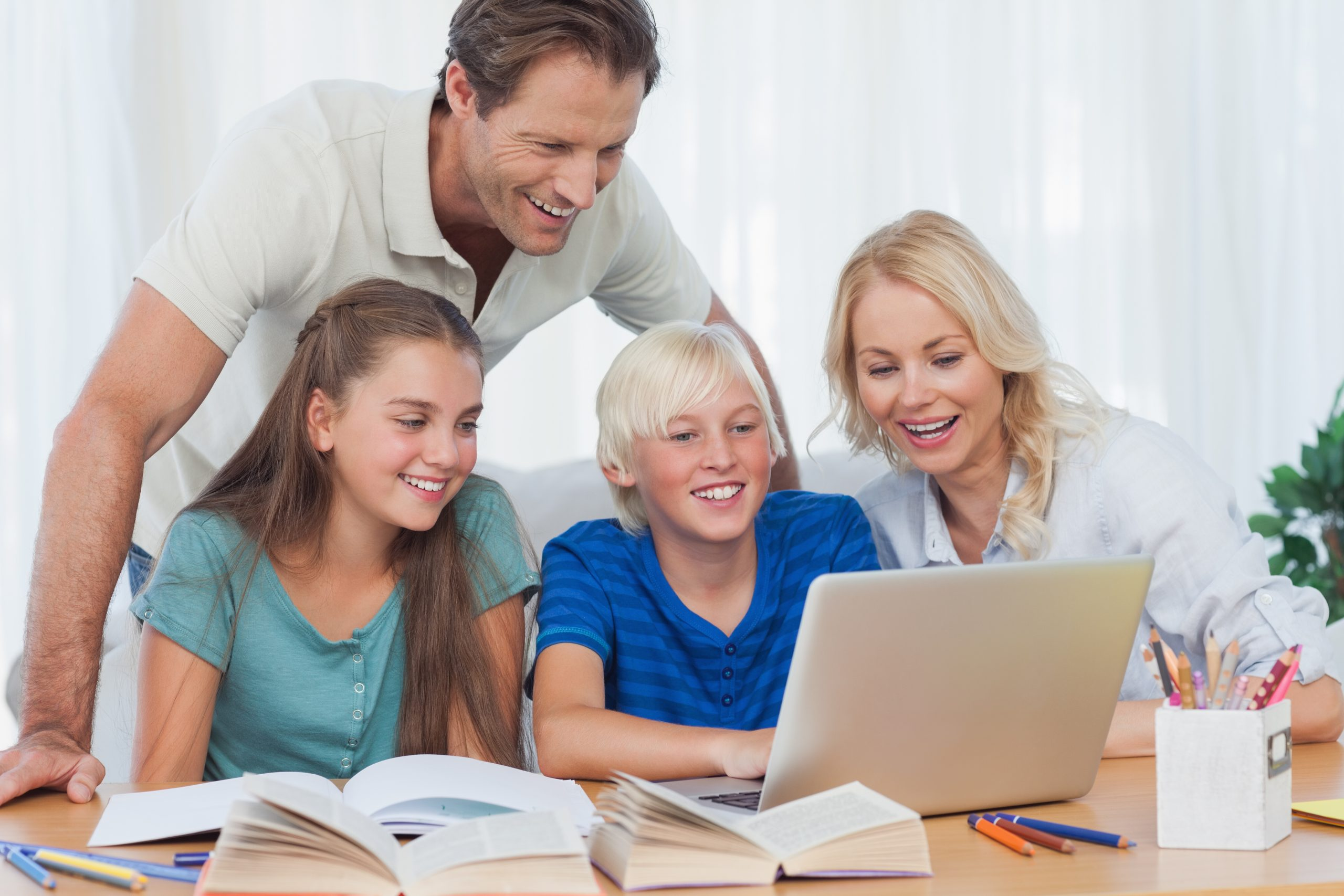 Parents and children using The Society of Literary Adventurers